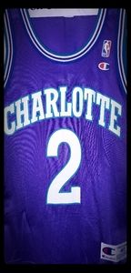 Larry  Johnson NBA Charlotte Hornets Jersey